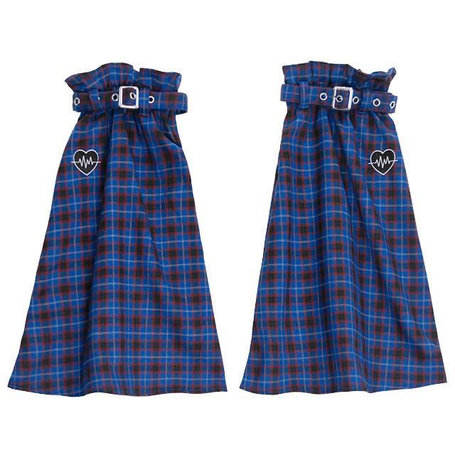 ハートビート ベルト付レッグカバー 【BLUE CHECK】/リッスンフレーバー