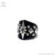 シャイニースターダイアゴピラミッドレザーリング【黒】/Brindle (ブリンドル)[原宿系ファッション]