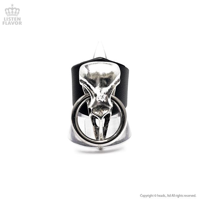 バードスカルレザーリング付 【黒】/Brindle (ブリンドル)[原宿系ファッション]
