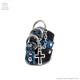 リング3連レザーアーマーリングチェーンオープンクロス 【黒ブルーパイソン】/Brindle (ブリンドル)[原宿系ファッション]