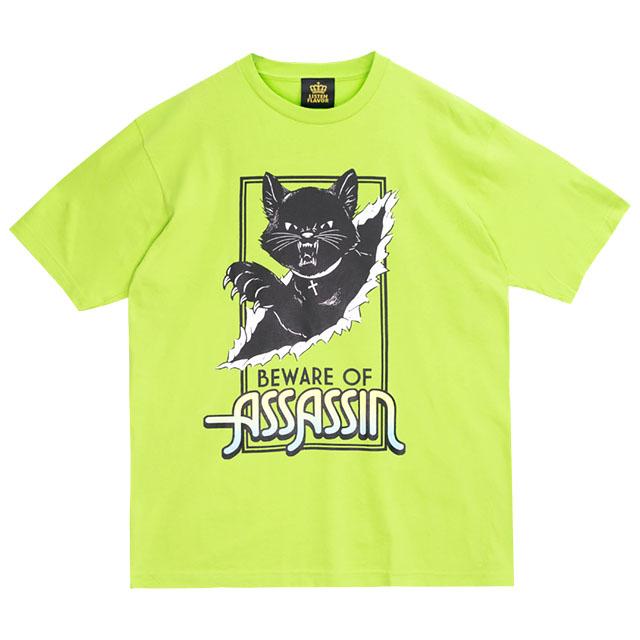 アサシンキャットビッグTシャツ 【LIME】/リッスンフレーバー