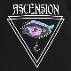 宇宙の瞳ビッグTシャツ 【BLACK】/リッスンフレーバー