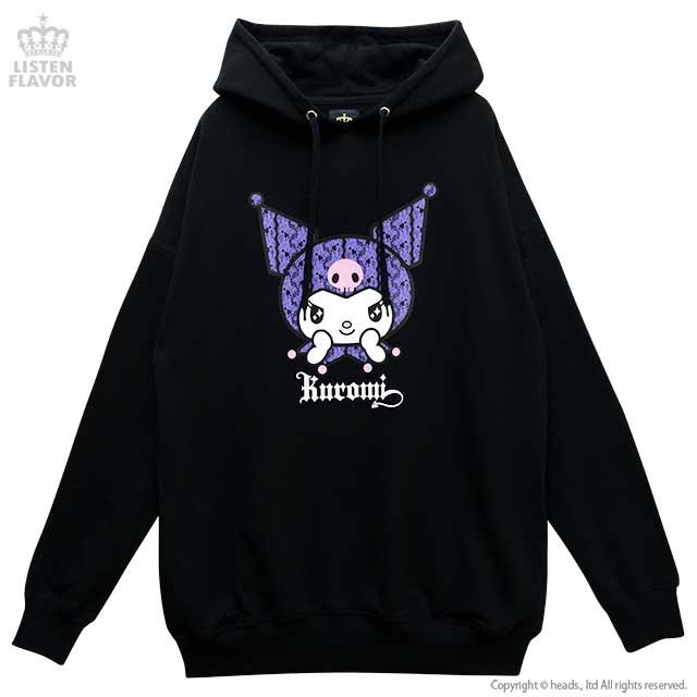 おめかしクロミパーカー【BLACK】 /クロミ×リッスンフレーバー [原宿系ファッション]