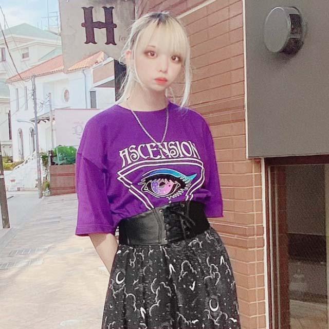 宇宙の瞳ビッグTシャツ 【PURPLE】/リッスンフレーバー