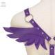 天使の羽根付きハーネスベルト 【パープル】 /リッスンセレクト