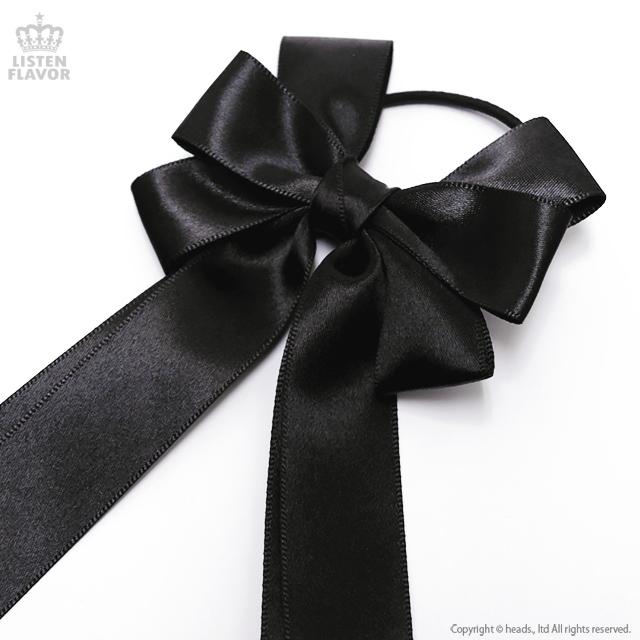 天使ちゃん悪魔ちゃんりぼんヘアゴム 【BLACK】 / melonDOLL-魔法少女-[原宿系ファッション]
