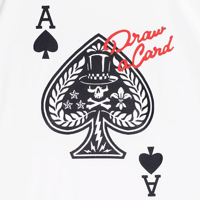 エースオブスペードビッグTシャツ 【WHITE】/リッスンフレーバー