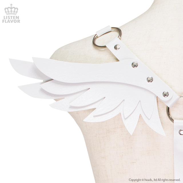 天使の羽根付きハーネスベルト 【ホワイト】 /リッスンセレクト