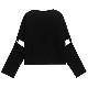 【10/19(火)19時までのご注文でポイント10倍!!】 ガスマスクネコ袖ベルト2wayトップス 【BLACK】/リッスンフレーバー