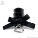 黒リボンオープンハート付3連アーマーリング/Brindle (ブリンドル)[原宿系ファッション]
