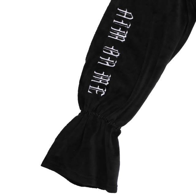 【10/19(火)19時までのご注文でポイント10倍!!】 トリプルハートベロアショートパーカー 【BLACK】/リッスンフレーバー
