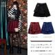 ショーパン付レイヤードプリーツポケットスカート【BLUE CHECK】/リッスンフレーバー