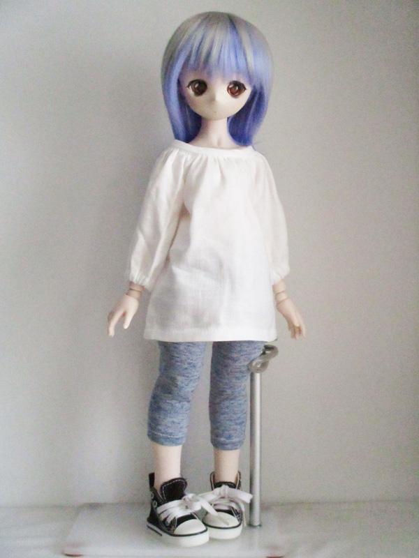 【単品】オビツ50/DDP/MDD スモッグブラウス(白)