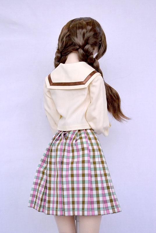 【単品】DDS/DD/AZO2 プリーツスカート/校則丈(ピンクチョコチェック)