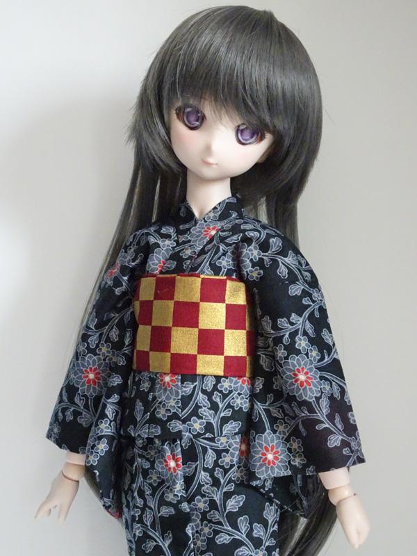 【単品】MDD/DDP/オビツ50/AZO2 浴衣帯(赤金市松)