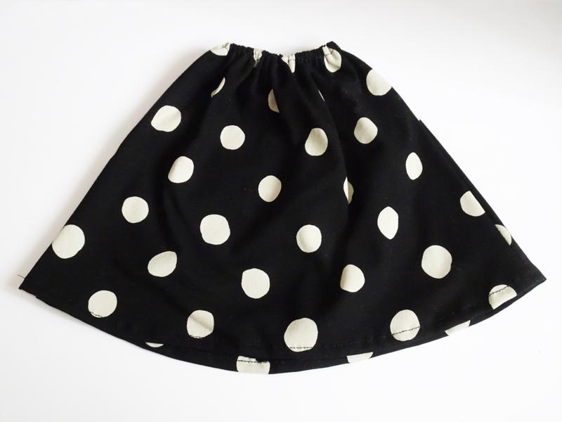 【単品】40cm〜60cmフリーサイズ ギャザースカート/ニット(水色)