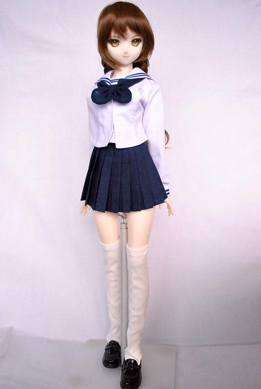 DDS/DD(M.L) セーラー服/ミニ丈(白襟/紺ライン/紺スカート)