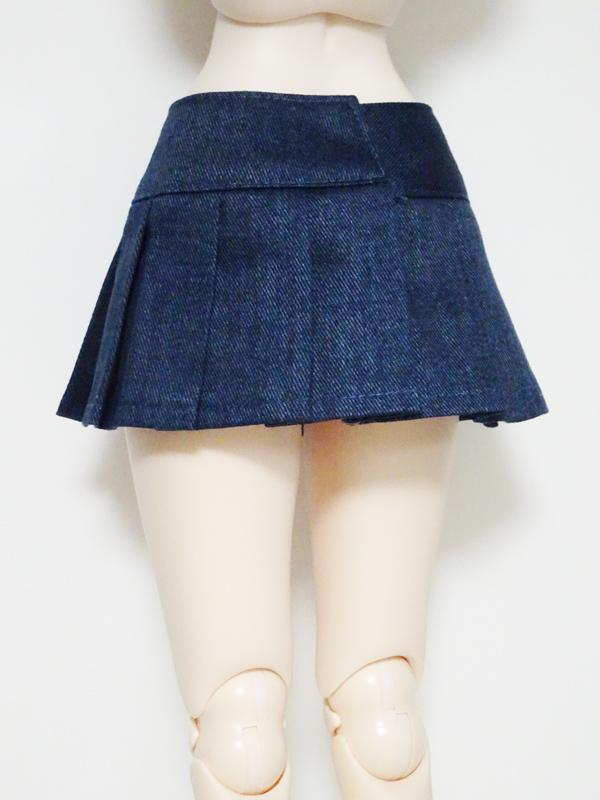 【単品】DDS/DD/DDdy/SD/スマートドール/AZO2 HBプリーツスカート(デニム)