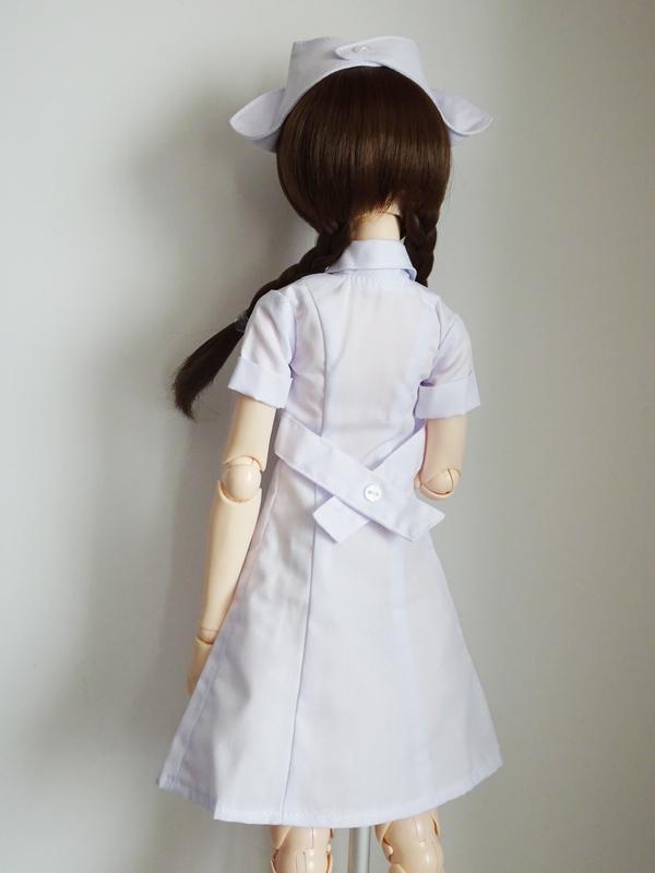 オビツ50/AZO2(G) ナース服/ひざ丈(白)