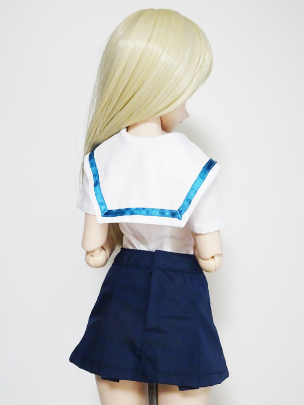 DDS/DD(S.M)/スマートドール(S)/AZO2(G) 名古屋襟セーラー服・半袖(白襟/青ライン)
