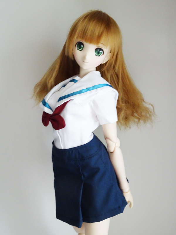 DDS/DD(S.M)/スマートドール(S)/AZO2(G) 名古屋襟セーラー服・半袖(ベージュチェック襟)