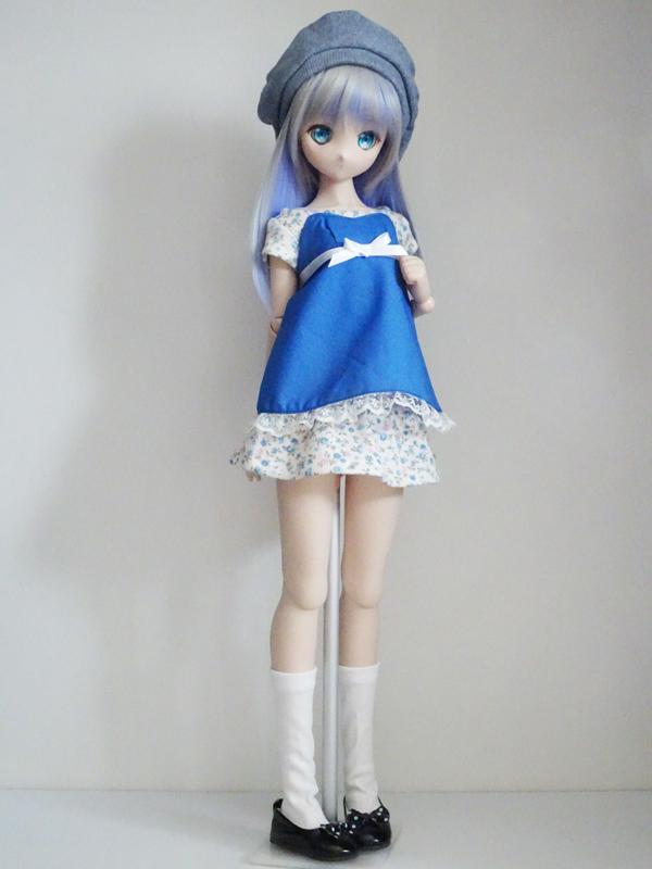 【単品】MDD リボンジャンバースカート(白)