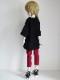 【単品】40〜60cmフリーサイズ ボーイフレンドTシャツ(黒)