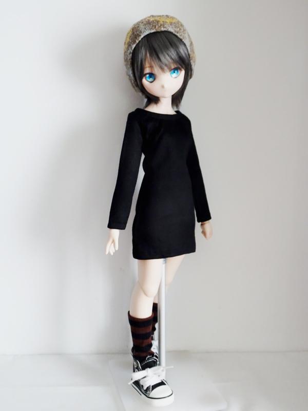 オビツ50/DDP/MDD タイトTシャツワンピース(黒)