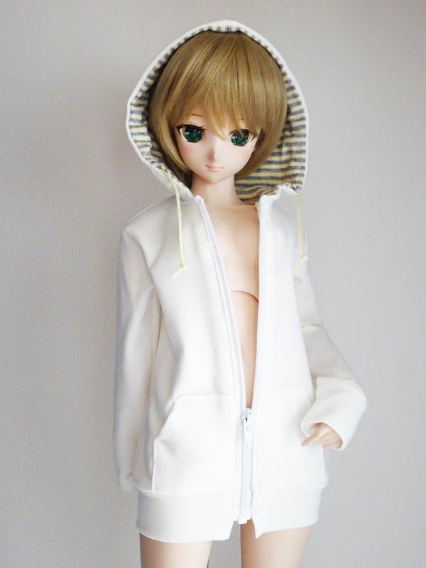 【単品】DD/DDdy/スマートドール ボーイフレンドパーカー(白)