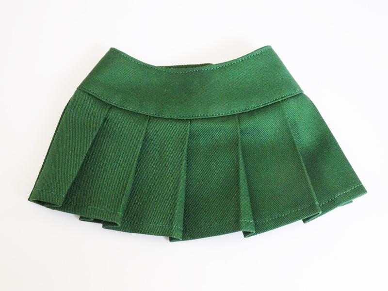 【単品】DDS/DD/DDdy/SD/スマートドール/AZO2 HBプリーツスカート(ノーブルモミ=緑系)
