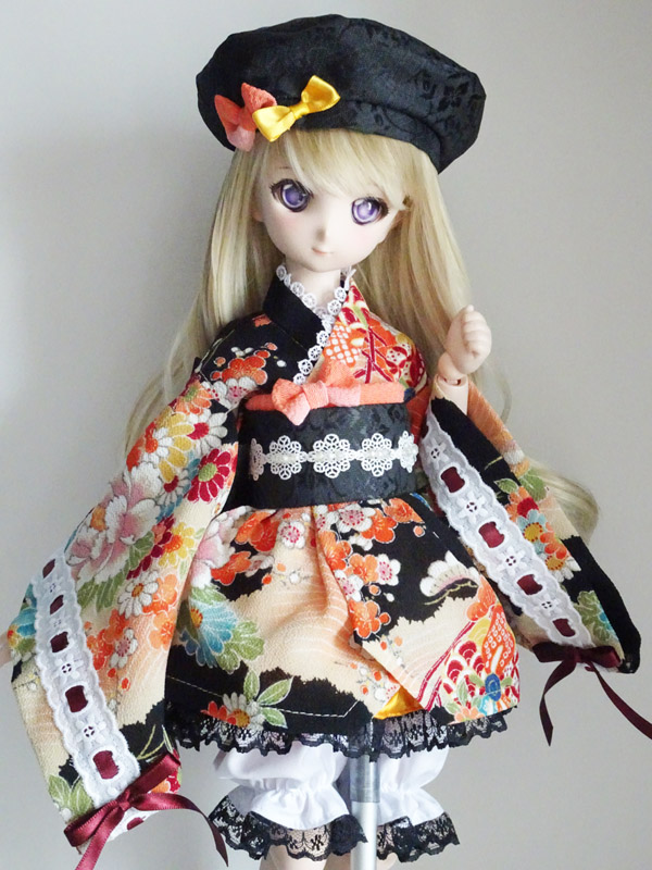 ≪FOR YOU COLLECTION≫MDD(S胸) 着物ドレス&ベレー帽(橙華ver3)