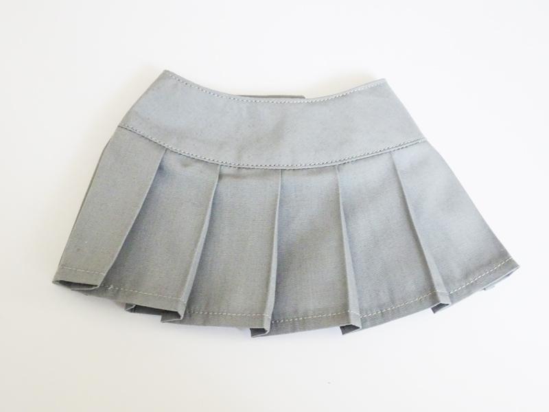 【単品】DDS/DD/DDdy/SD/スマートドール/AZO2 HBプリーツスカート(グレー)