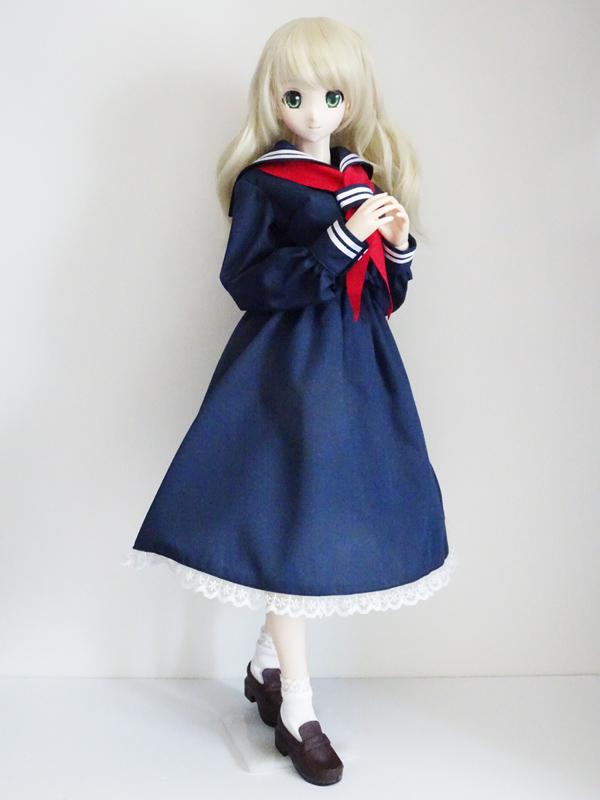 【単品】オビツ50/DDP/AZO2 ロングスカート(紺)