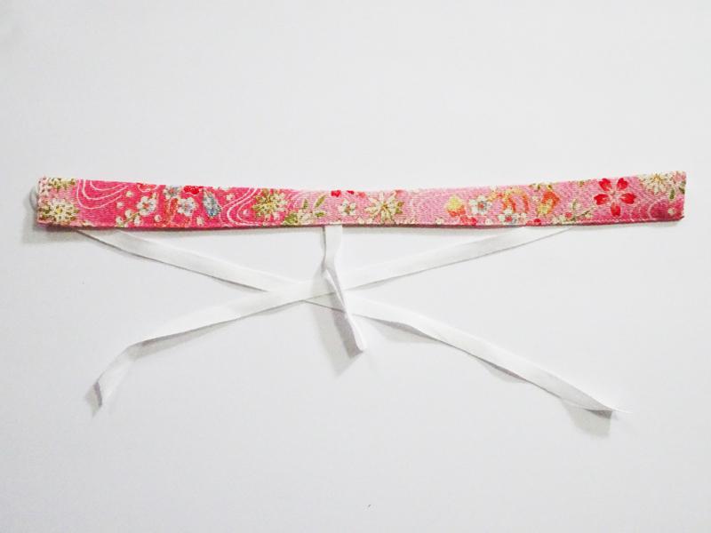 【単品】60cmフリーサイズ 半襟(ピンク花ちりめん)