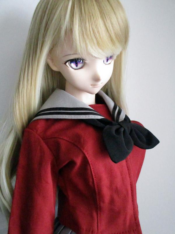 DDS/DD(M.L) セーラー服(冬服/ワイン×グレー×黒ライン)