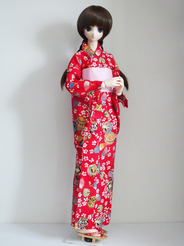 【単品】オビツ50/DDP/AZO2/SD 浴衣(赤桜手毬)