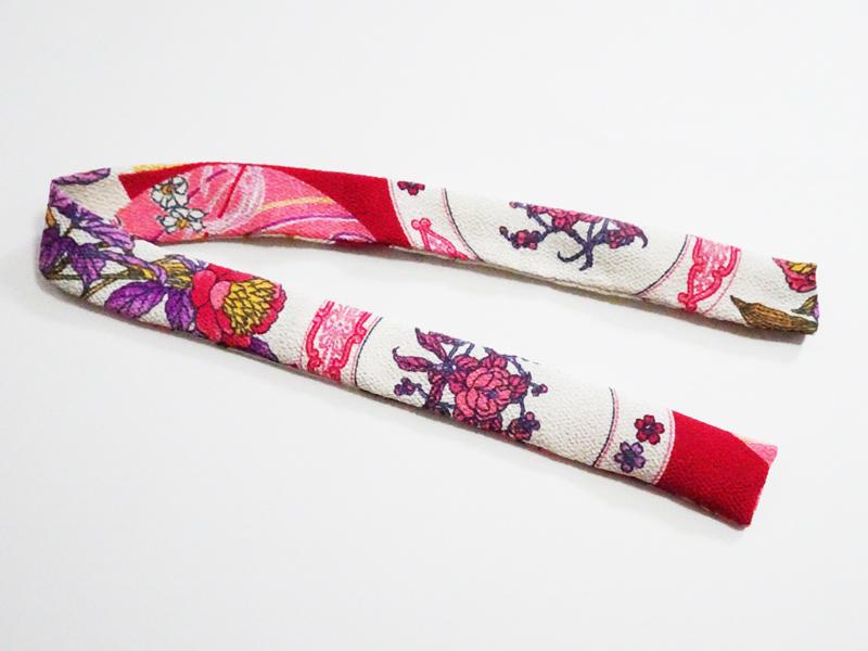 【単品】40-60cmフリーサイズ 帯揚げ(花柄ちりめん)