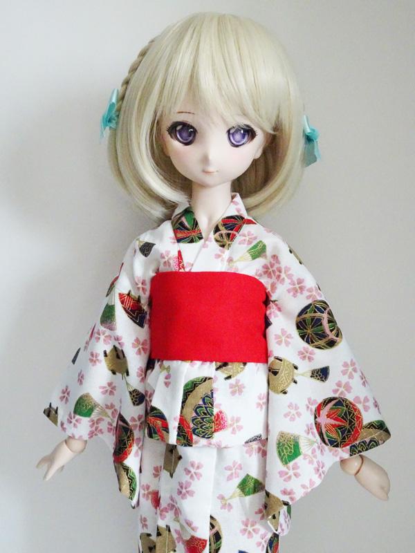 【単品】MDD/DDP/オビツ50/AZO2 浴衣帯(赤)