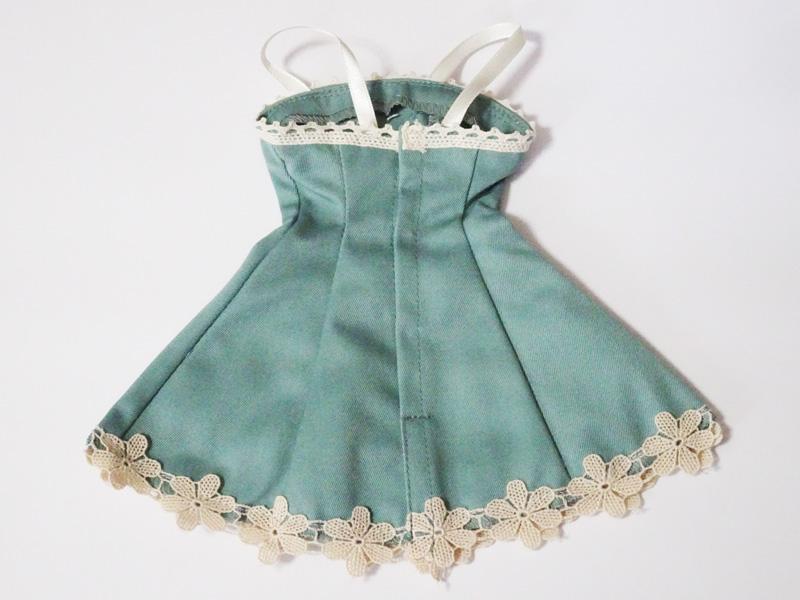 【単品】オビツ50/DDP リボン&レースジャンバースカート(ミント/モカリボン)
