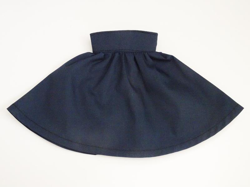 【単品】MDD/DDP/オビツ50 バックリボンハイウエストフレアスカート(紺)