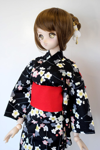 【単品】DDS/DD/DDdy/スマートドール/SD 浴衣帯(赤)