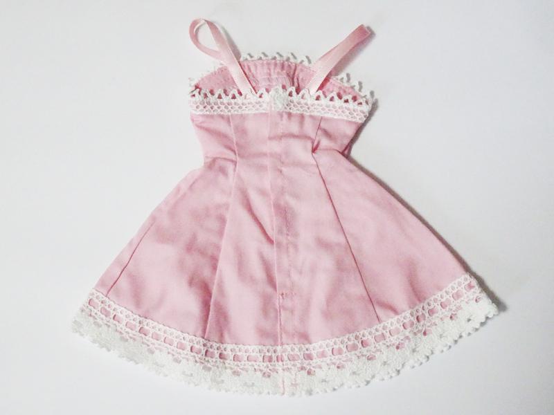 【単品】オビツ50/DDP リボン&レースジャンバースカート(ピンク)