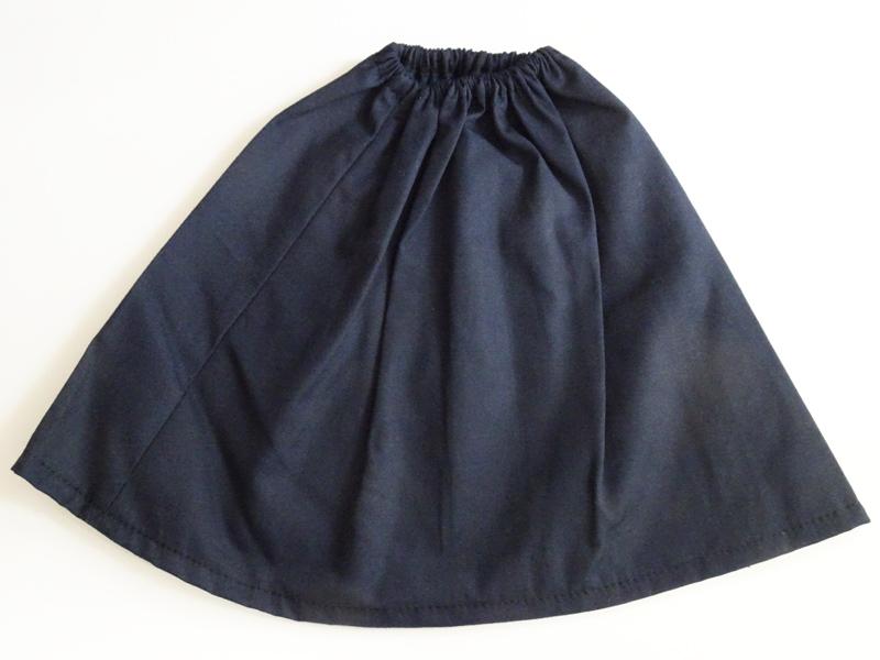 【単品】40cm〜60cmフリーサイズ ギャザースカート(濃紺)