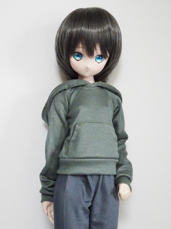 【単品】オビツ50/AZO2(G) パーカートレーナー(ベイクドブルー)