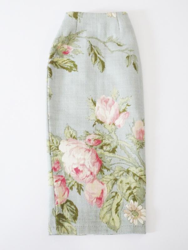 【単品】オビツ50/オビツ48/DDP ミディロングタイトスカート(スモークミントフラワー)