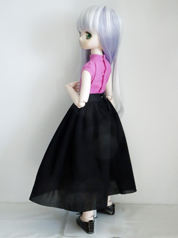 【単品】MDD/DDP/オビツ50/AZO2/DDS/DD/DDdy/スマートドール チュールスカート(黒)