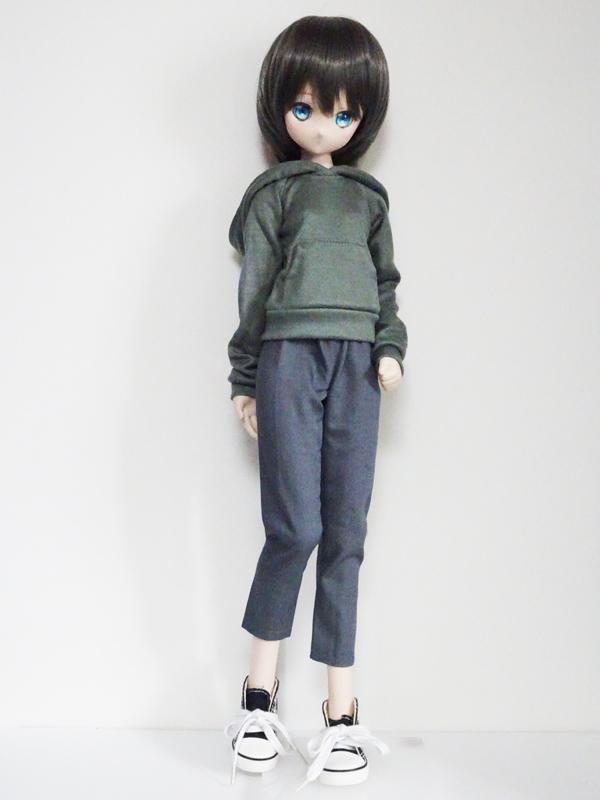【単品】オビツ50/AZO2(G) パーカートレーナー(カーキ)