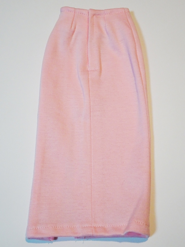 【単品】オビツ50/AZO2/DDP/MDD ニットタイトスカート/ミディ/前横スリット(ピンク)
