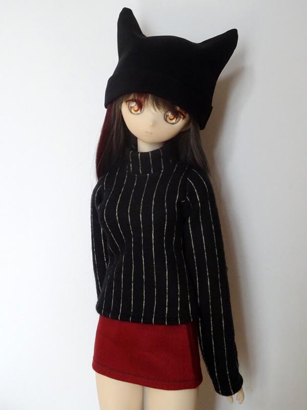 ≪HappyHalloween≫【単品】8-9インチ ねこみみ帽子(黒)