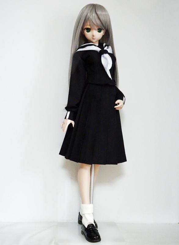DDS/DD(M.L) 井桁ラインセーラー服(冬服/黒)